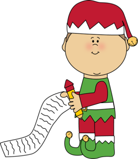 Christmas elf-with-christmas-list