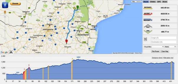 official route of the 24 Hour Challenge on 5th October 2015